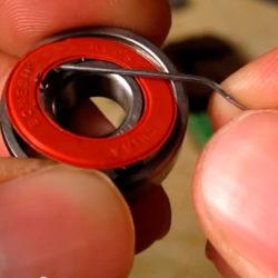 Öppna lagret med ändan på ett gem