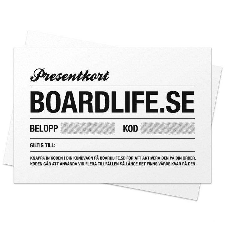 Presentkort hos Boardlife
