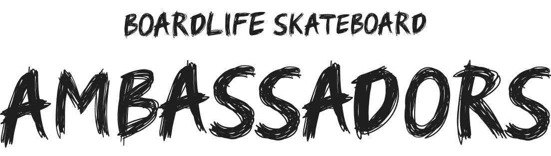Boardlife Skateboard Ambassadors logo black