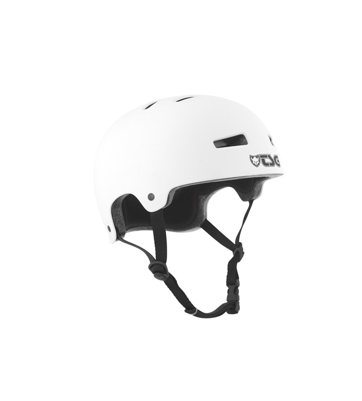 TSG helmet evolution satin white hjälm