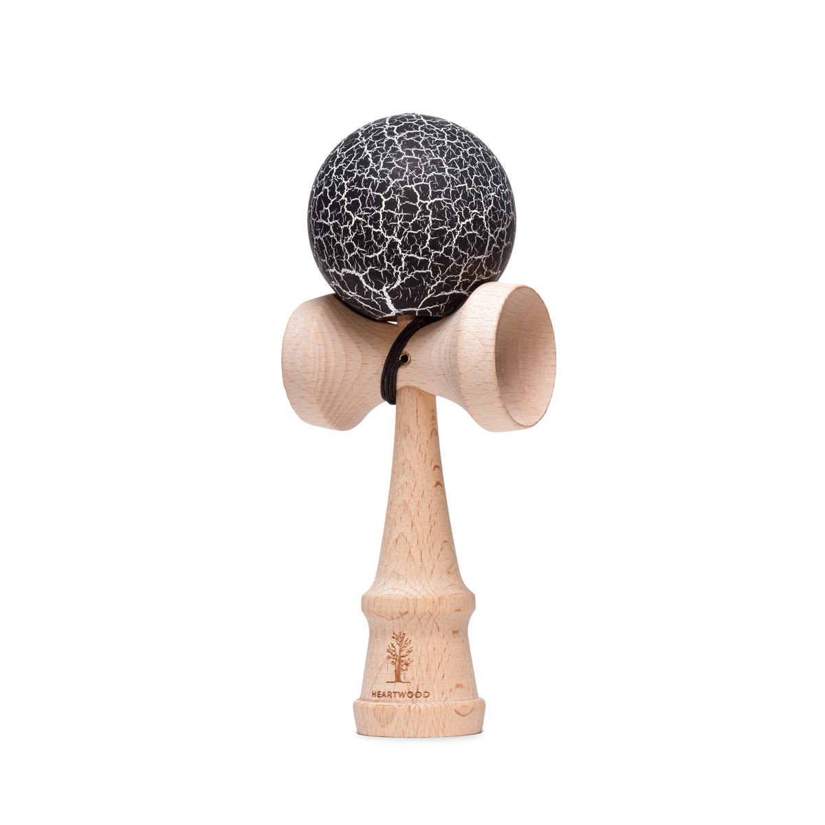 Heartwood Kendama Grunge Charcoal Black