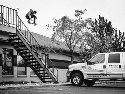 Svävande skateboardåkaren Aaron!