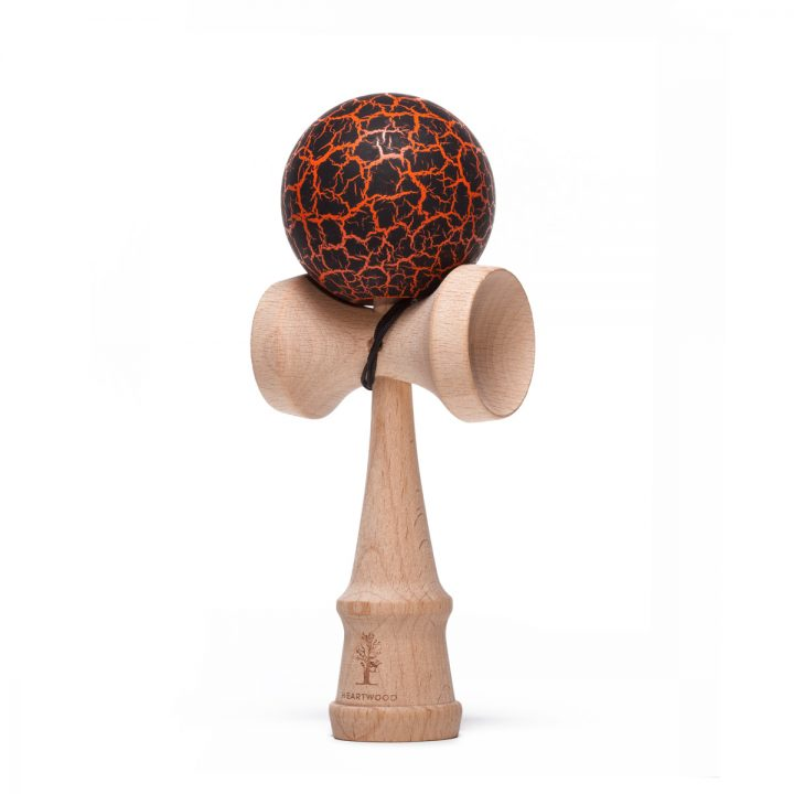 Heartwood Kendama Grunge Volcano Orange