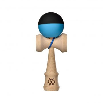 Tribute Kendama - Half Split - Neon Blue and Black - SILK MATTE