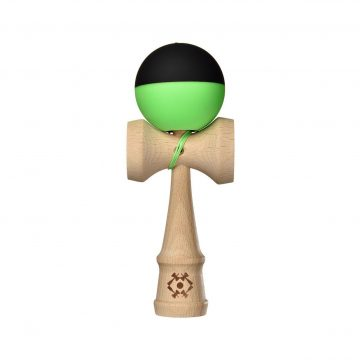Tribute Kendama - Half Split - Neon Green and Black - SILK MATTE