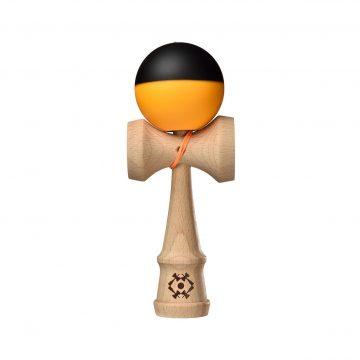 Tribute Kendama - Half Split - Neon Orange and Black - SILK MATTE