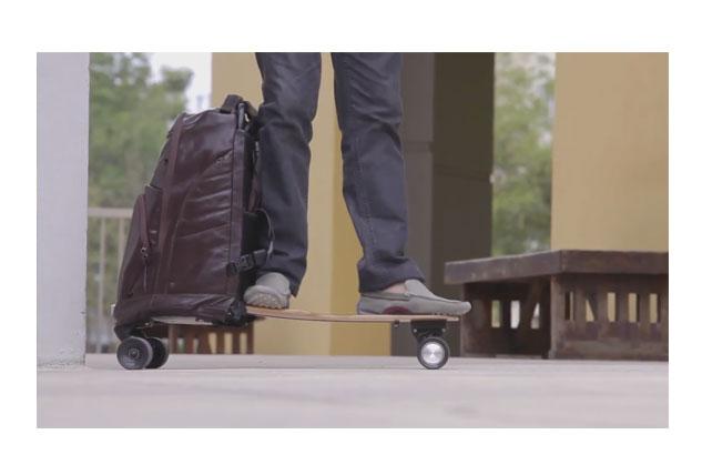Skateboarden som blir en väska!