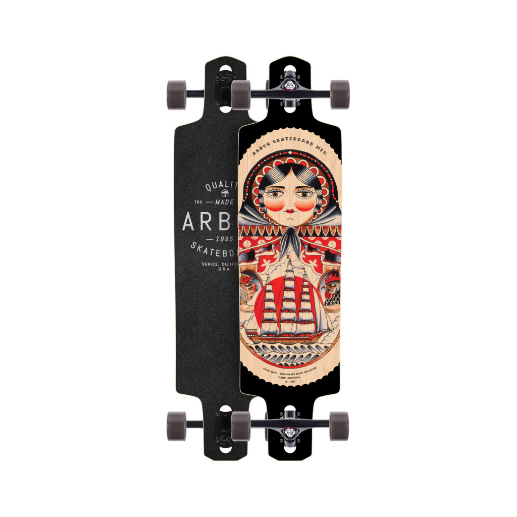 Arbor Skateboards Dropcruiser Artist Collection