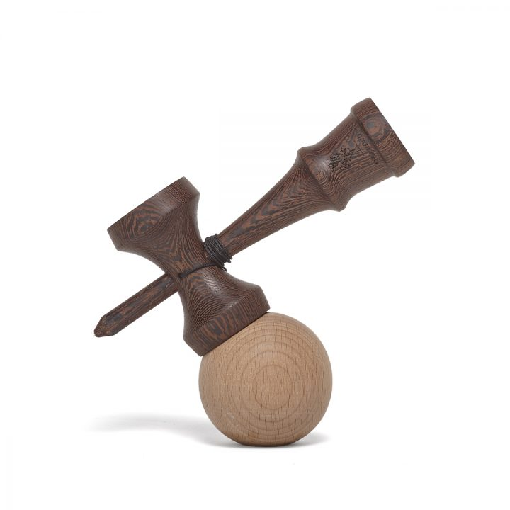 Heartwood Kendama Nature Series Dark Wood side