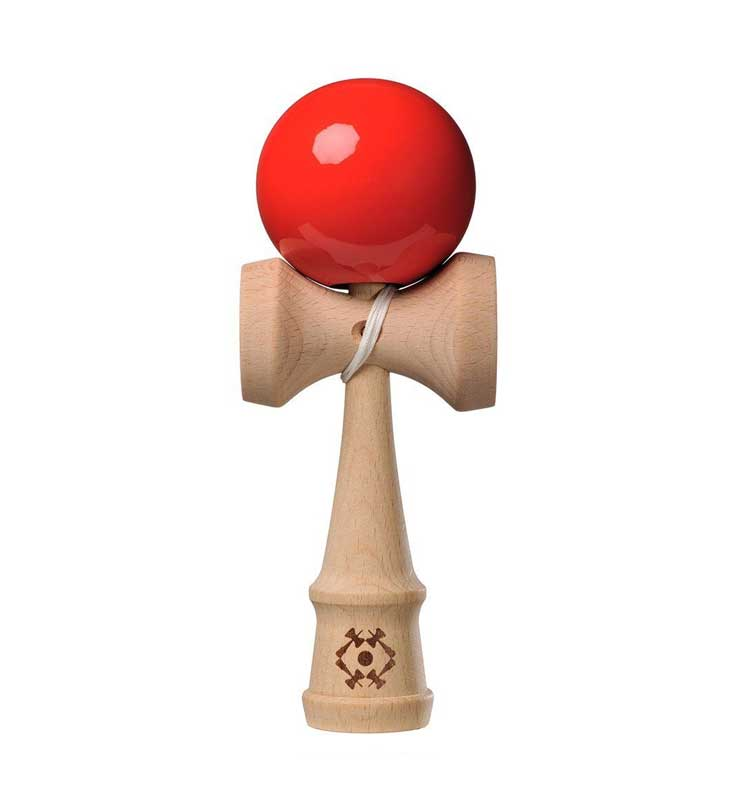 Tribute Kendama - Super Stick - Fire Red