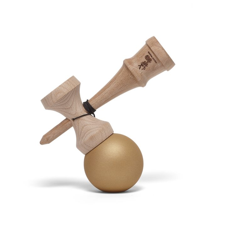 Heartwood Kendama Solid Gold side