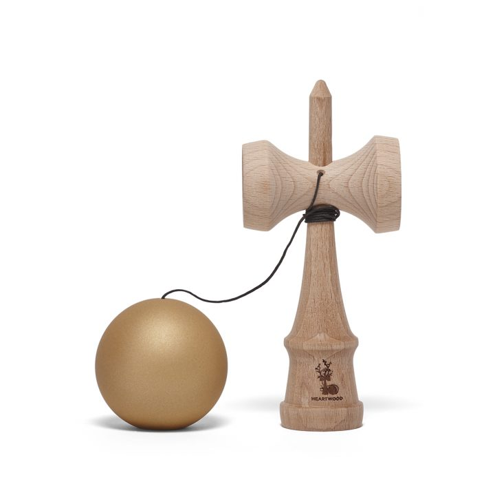 Heartwood Kendama Solid Gold unmounted