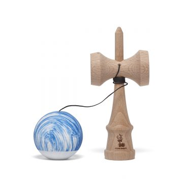 Heartwood Kendama Waves Blue/White unmounted