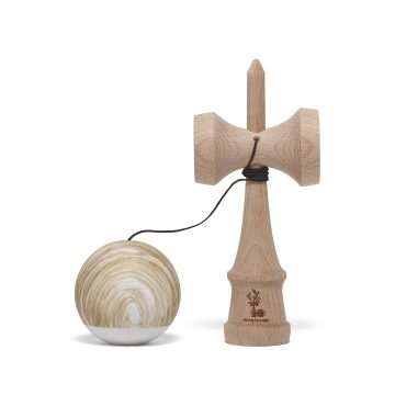Heartwood Kendama Waves Gold/White unmounted