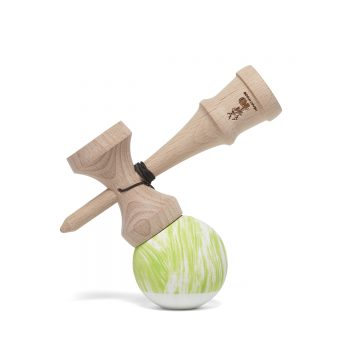 Heartwood Kendama Waves Green/White side