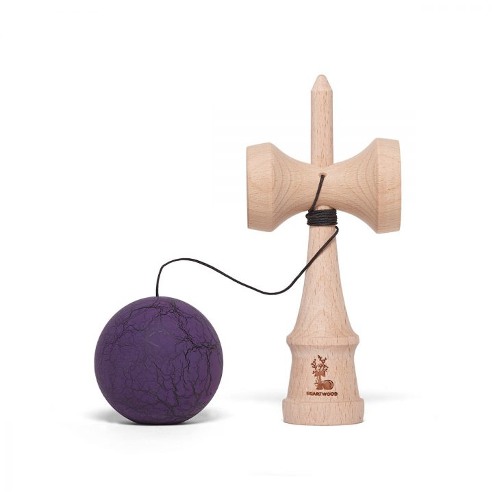 heartwood kendama grunge purple dark unmounted