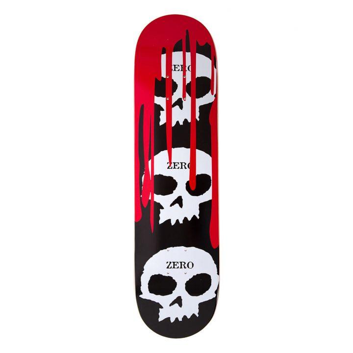 Zero 3-Skull Blood Black Logo Deck 8.125