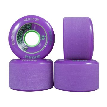 Remember Lil Hoot 65mm Longboard Skateboard Wheels purple 80a