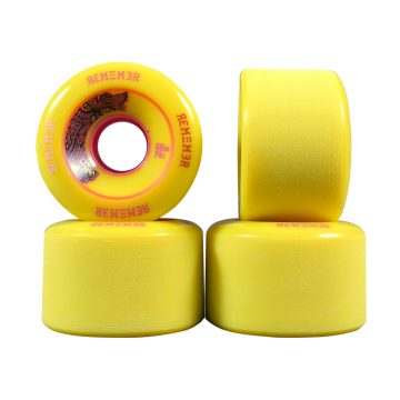 Remember Lil Hoot 65mm Longboard Skateboard Wheels yellow 74a