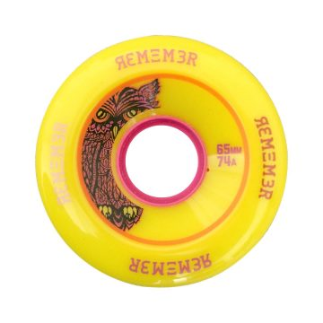 Remember Yellow Lil' Hoots 65mm 74a