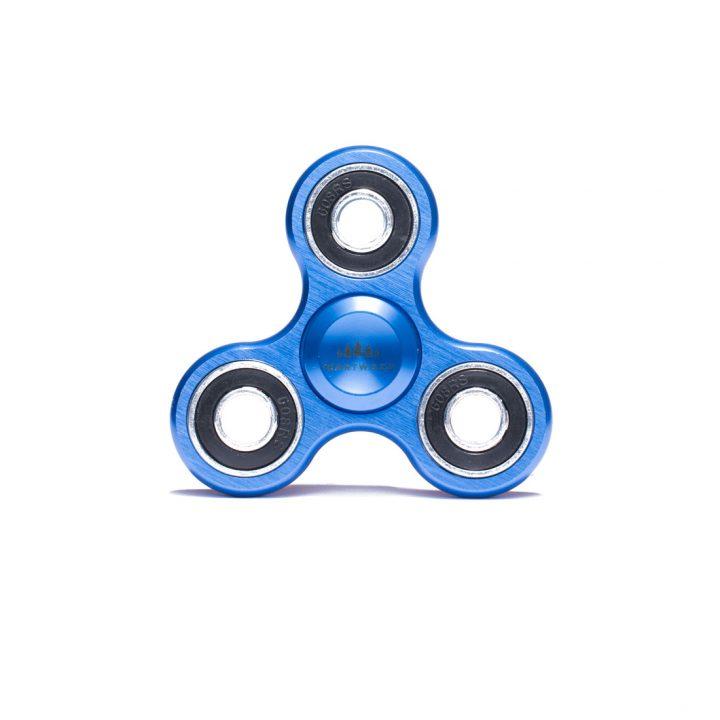 Heartwood Fidget Spinner Aluminium Blue