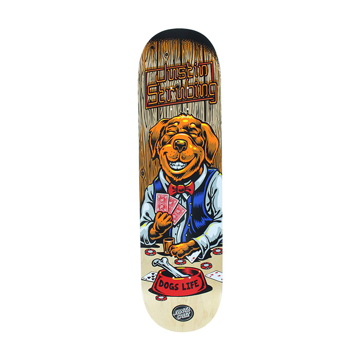 santa cruz strubing poker dog skateboard