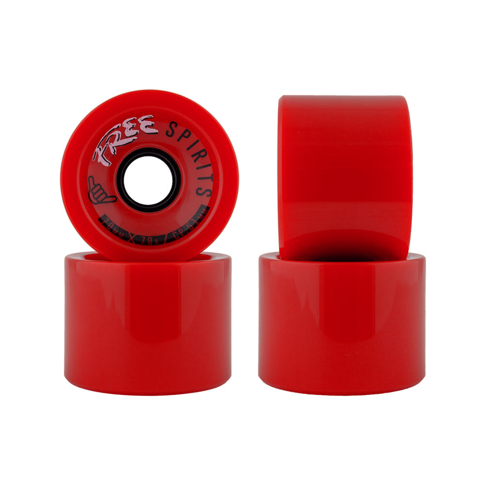 Free Wheels Free Spirits Red 70mm 78a