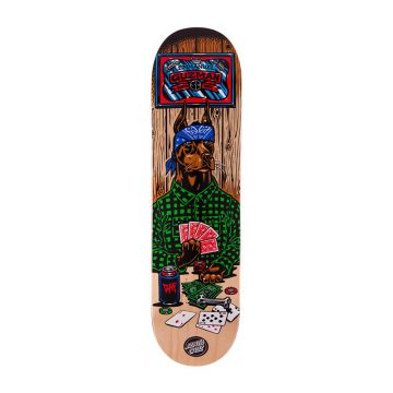 Santa Cruz Guzman Poker Dog skateboard deck 8.2""