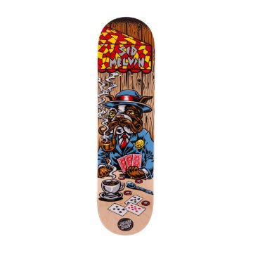 Santa Cruz Melvin Poker Dog skateboard deck 8.125""