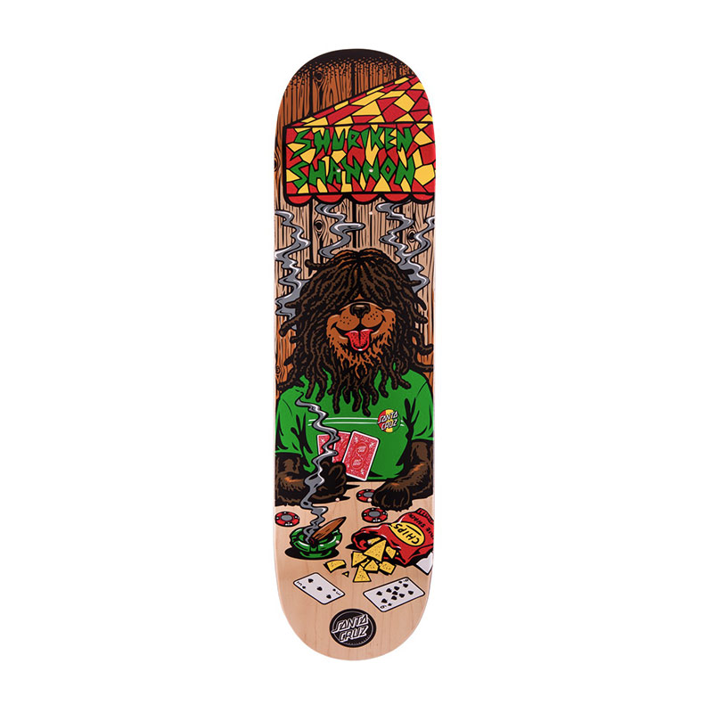 Santa Cruz Shannon Poker Dog skateboard deck 8""