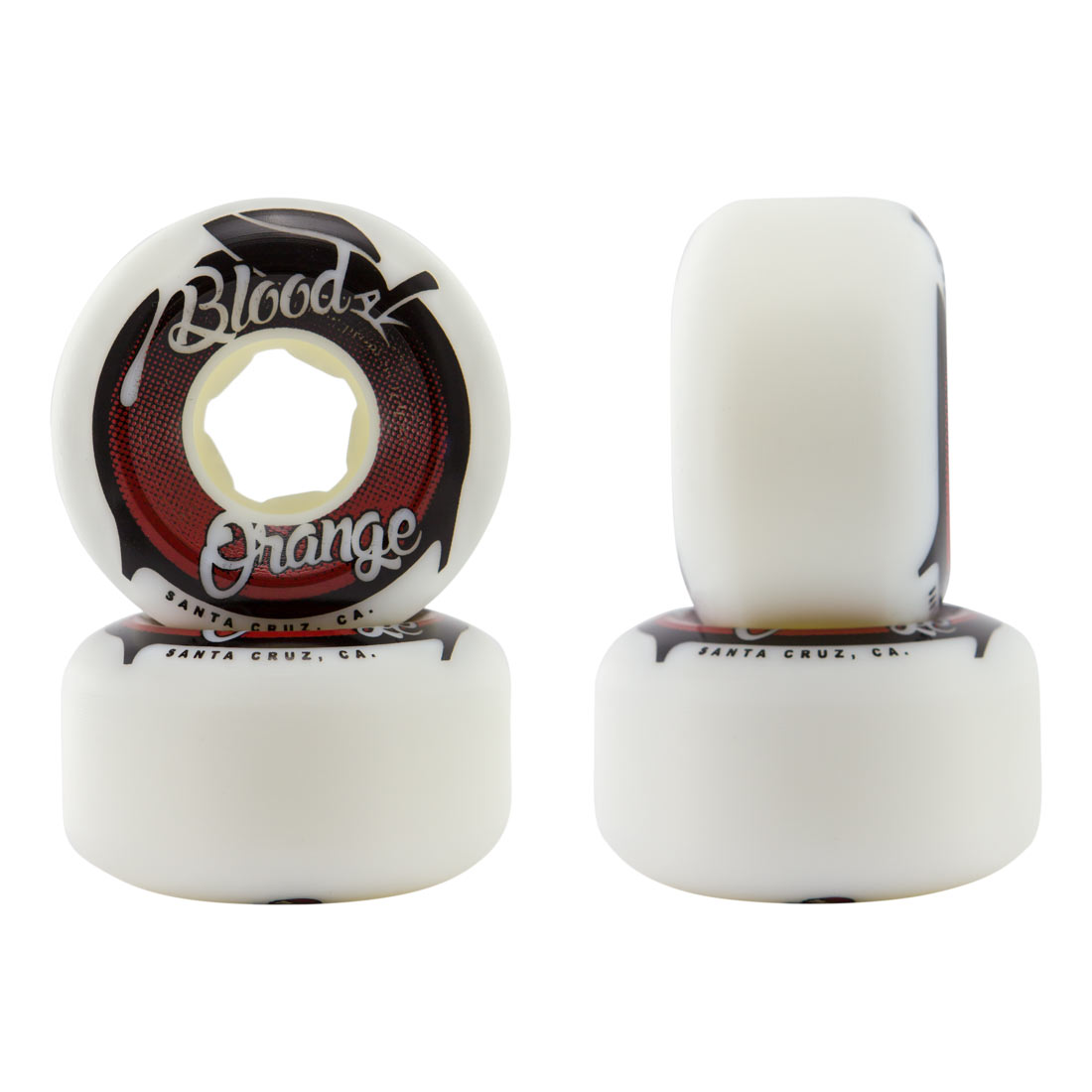 Blood Orange 57mm Red Conical Street Wheels