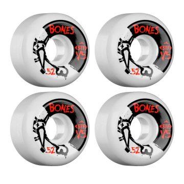 Bones STF V5 Skateboard Wheels white 54mm 83b