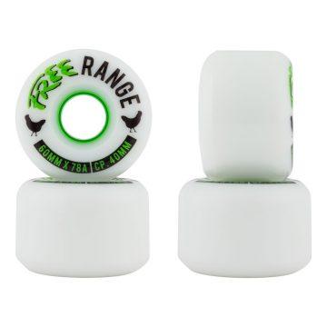Free Wheels Range White 60mm 78a