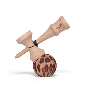 Heartwood Kendama Leopard side