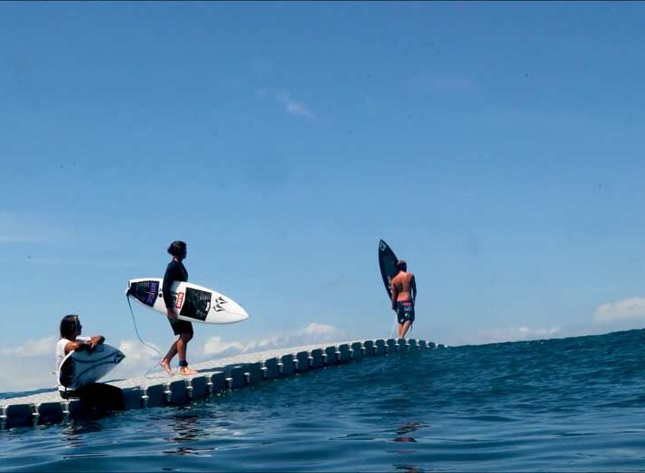 Volcom Floating Surf Dock