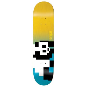 Enjoi 8-Bit Panda R7 Skateboard Deck Blue/Yellow 8.0""