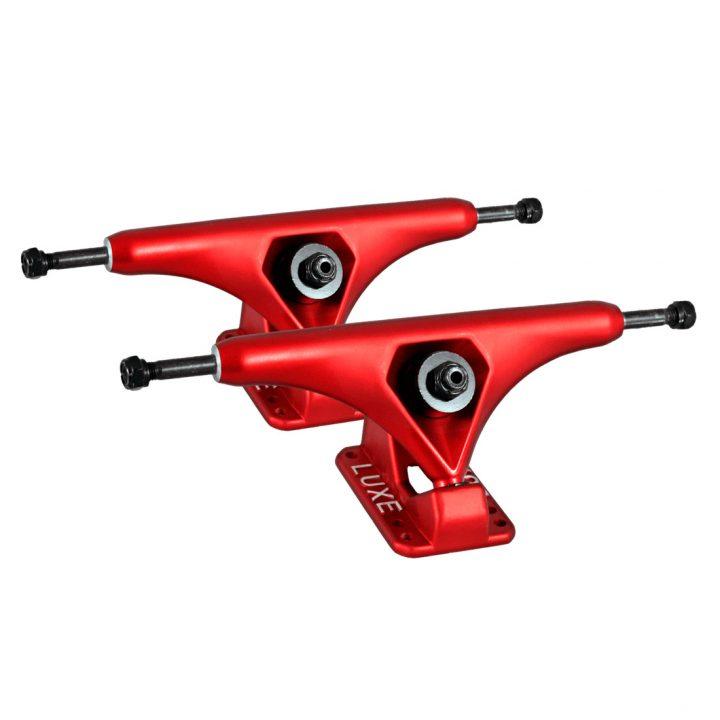 LUXE Longboard trucks Lite Red Front