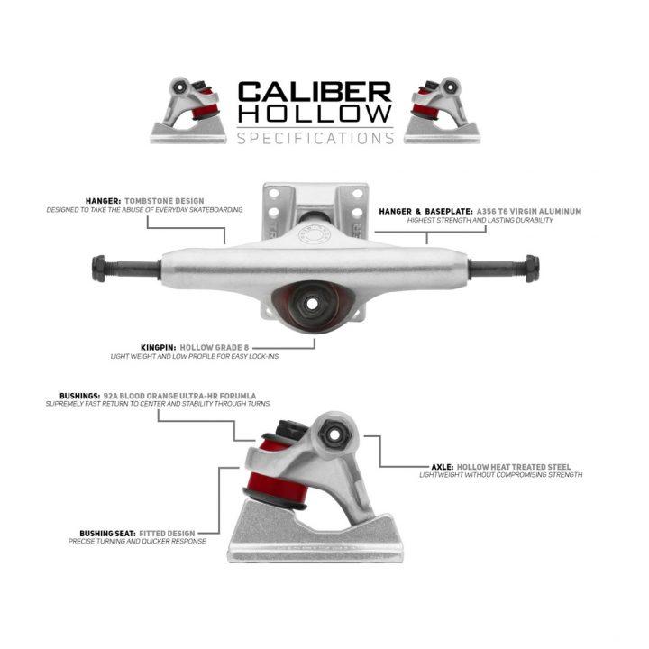 Caliber Street Skate Truck Hollow Raw specs