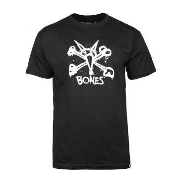 Bones Black T-shirt Vato Central logo
