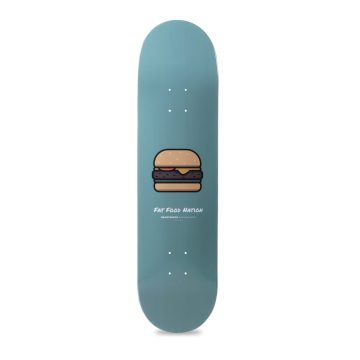 "Heartwood Fat Food Nation Donut 8.25"" skateboard deck only"