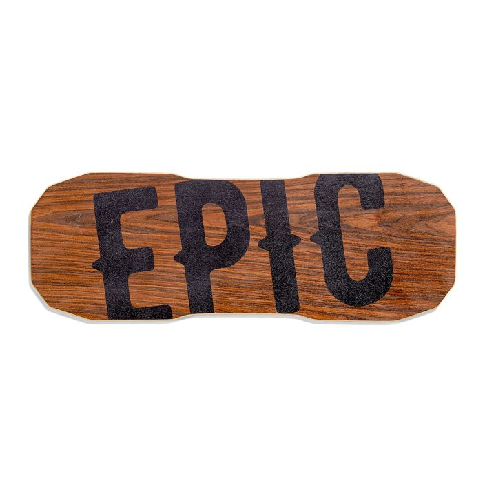 Epic Balance Boards - Wood Series Dark Oak top