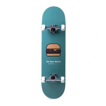 Heartwood Skateboards Fat Food Nation Burger complete skateboard 8.25""