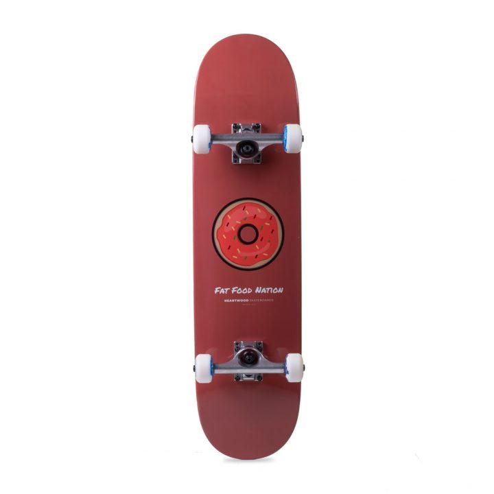 """Heartwood Skateboards Fat Food Nation Donut complete skateboard 7.75"""""""
