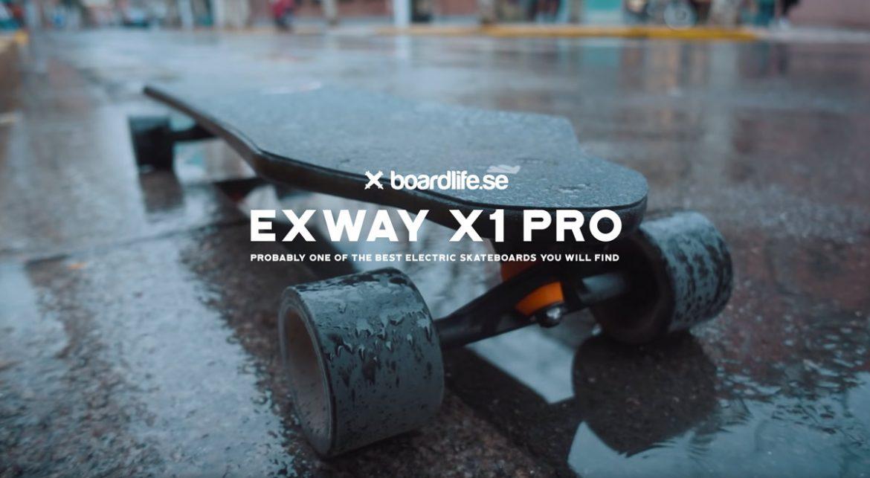 Exway X1 pro electric longboard in rain
