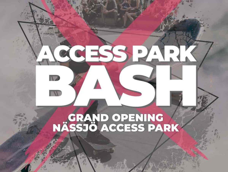 poster grand opening Nässjö skate park
