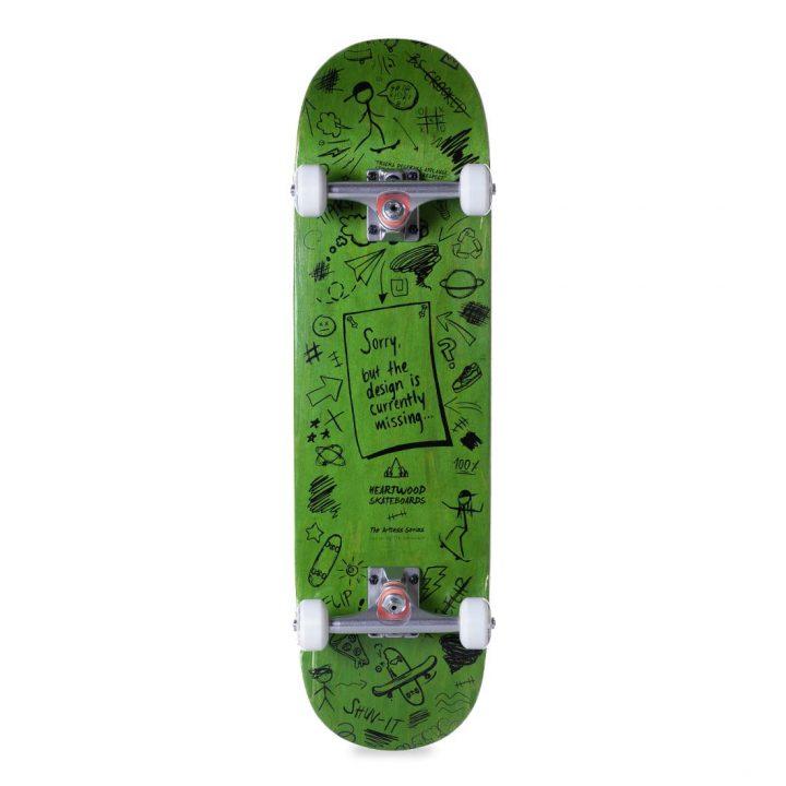 Heartwood Skateboards Artless Series complete skateboard - Green bottom