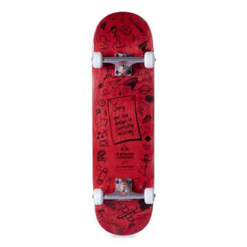 Heartwood Skateboards Artless Series complete skateboard - Red bottom