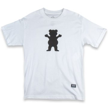 grizzly grip og bear logo t-shirt white