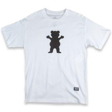 grizzly grip og bear logo t-shirt white