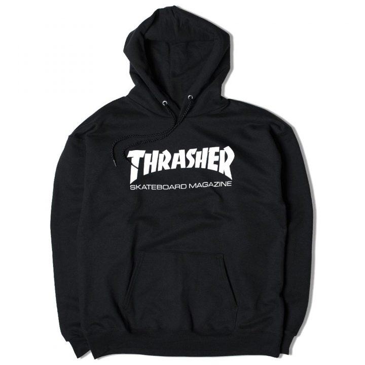 thrasher hoodie black